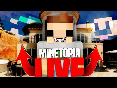 DE GROOTSTE VILLA OOIT IS AF!! MINETOPIA LIVE!