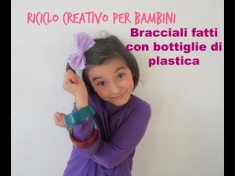 Riciclo creativo per bambini creative recycling bracciali - Fermatovaglia per tavoli di plastica ...