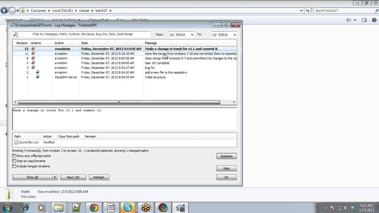 SVN Merge-Conflict-Resolution- Subversion -Step-by-Step