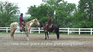 How much grace should I give my horse?