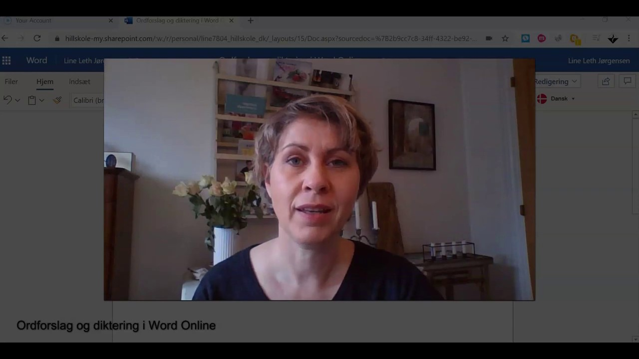 Diktering og ordforslag i Word Online