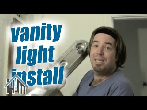 How to replace a vanity light fixture in your bathroom. Easy!