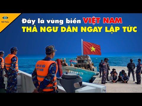 Kịch Tính Cảnh Sát Biển Việt Nam Giải Cứu Ngư Dân Tàu Đánh Cá Bị Indo Bắt Giữ Trái Phép   Mắt Thần