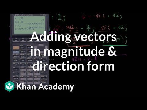 Magnitude and direction of vector sums | Vectors | Precalculus | Khan  Academy