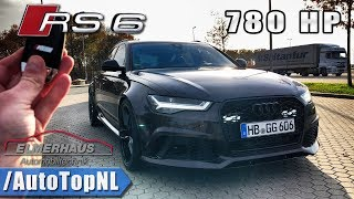 "AUDI RS6 780HP Elmerhaus ""Quick Gentleman Project"" REVIEW POV 302km/h on AUTOBAHN by AutoTopNL"