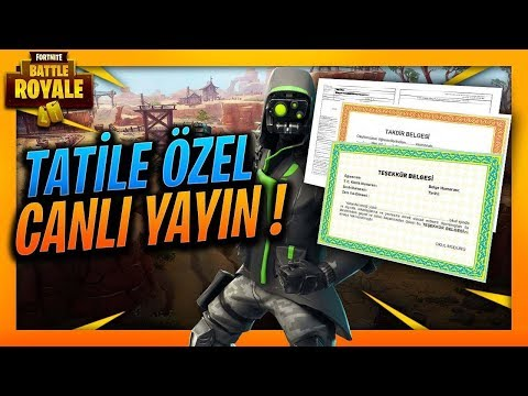 FORTNITE BATTLE ROYALE KARNE ÖZEL YAYINI