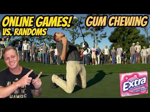 ASMR Gaming: PGA Tour 2K21   Online Gameplay vs Randoms! - Gum Chewing & Whispering  