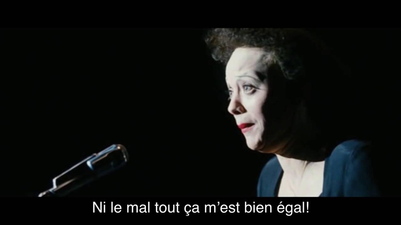 Edith Piaf Non, Je Ne Regrette Rien Lyrics - YouTube  Edith