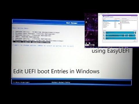 How to edit UEFI boot menu entries in Windows using EasyUEFI