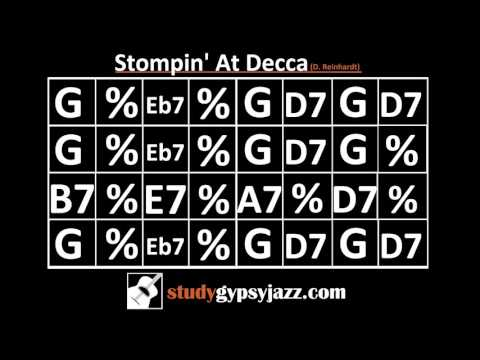 Gypsy Jazz Backing Track / Play Along - Stompin' At Decca