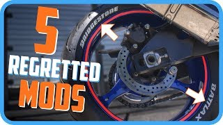5 Most Regretted Motorcycle Modifications and Accessories