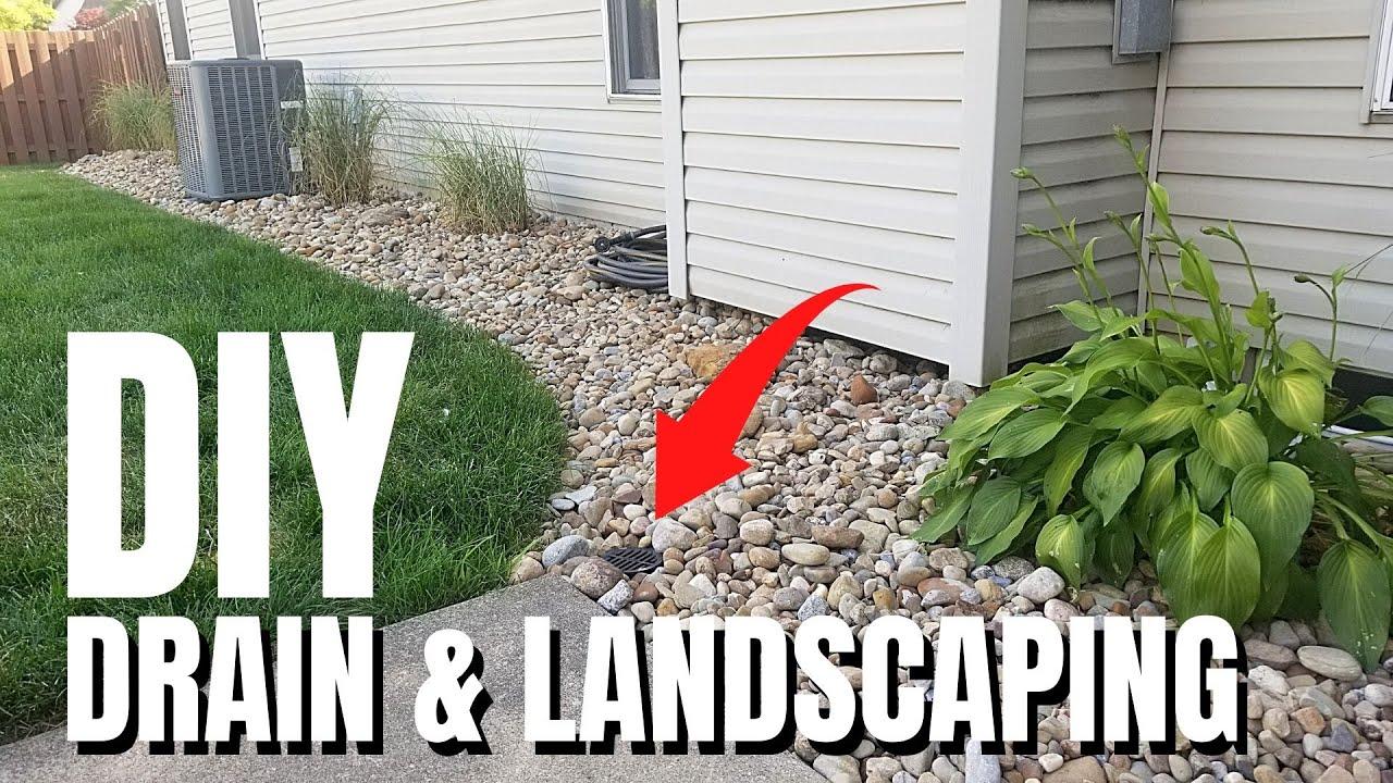 Diy Rock Landscaping Idea River Rock No Fabric Hide Trash Cans Youtube