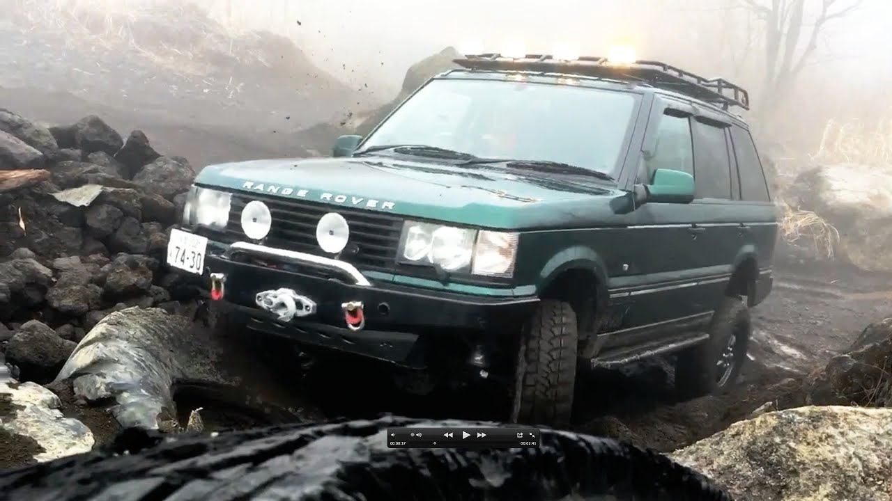 RANGE ROVER P38 OFF ROAD in a foggy day