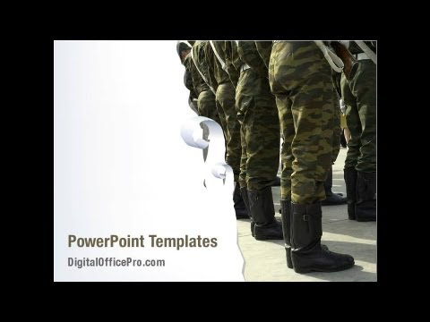 american army powerpoint template backgrounds - digitalofficepro, Modern powerpoint