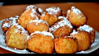 Творожные пончики на скорую руку за 10 минут