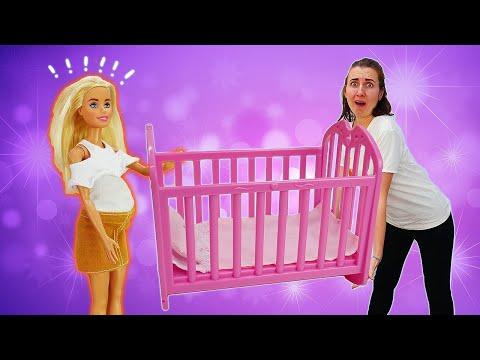 Кен купил кроватку для малыша. Тайна Барби и Терезы раскрыта! Мультик Барби - Я не хочу в школу 32