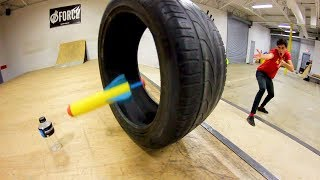 TOY ROCKET TRICK SHOTS! *Worst Toy Ever!*