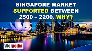 Singapore market supported between 2,500 and 2,200. Why?