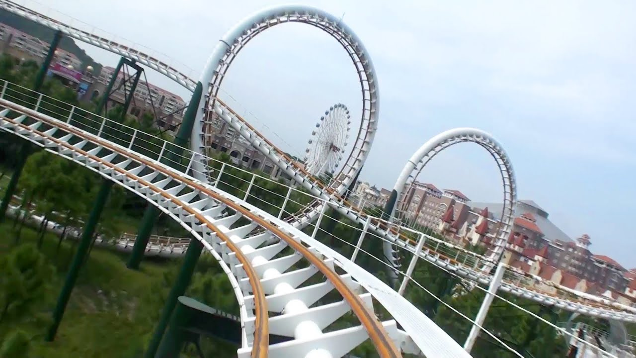 Actually Decent Chinese Double Looping Roller Coaster Pov