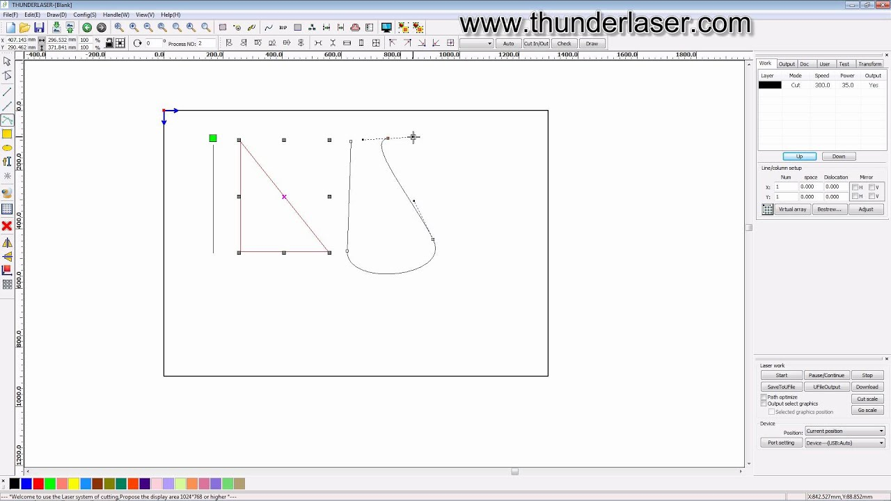 laser cutter software rdworks v8 tutorial 01 How to Draw ...