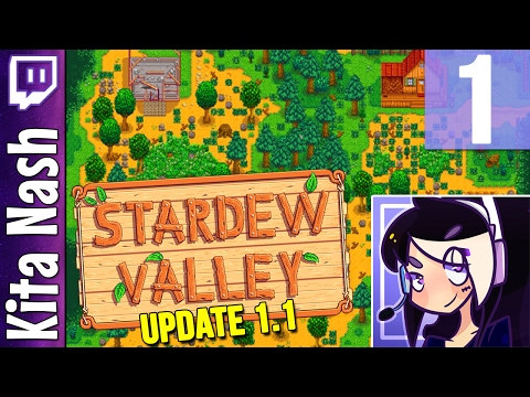 Stardew Valley 1.1 Gameplay PART 1: NEW CHARACTER & FOREST FARM |Let's Play Walkthrough [PC]