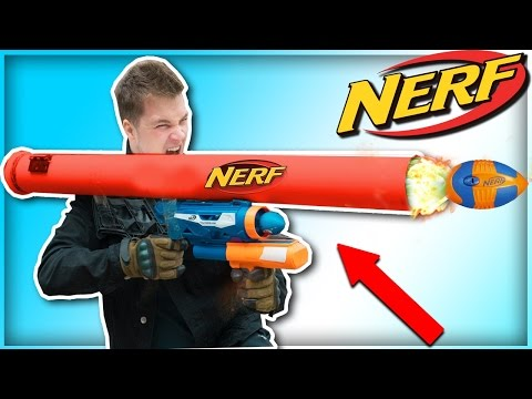 "DIY NERF ROCKET LAUNCHER / NERF RPG! ""Cops Were Called"" (NERF MOD)"