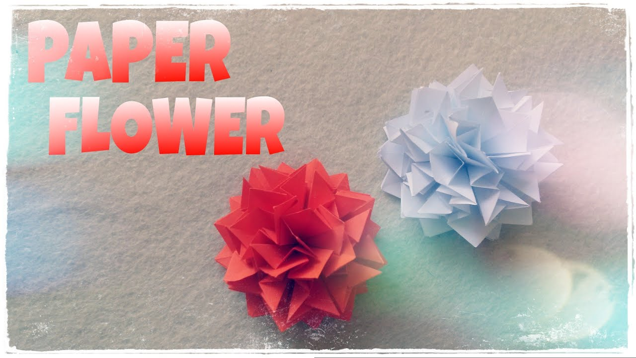 Origami flower tutorial origami easy youtube origami flower tutorial origami easy mightylinksfo