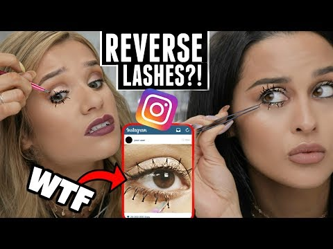 We Tried Instagram REVERSE LASHES! Viral Beauty Trend (ft. Christen Dominique)