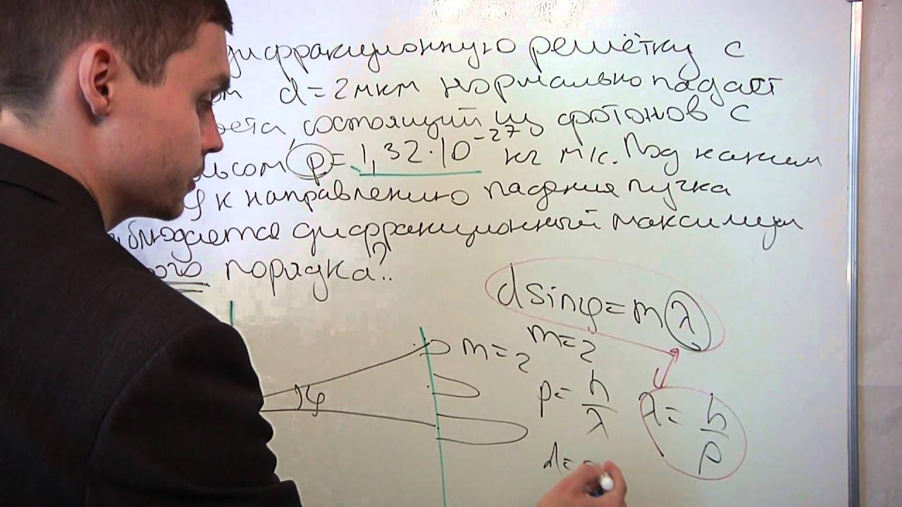 Диагностическая работа ЕГЭ по физике 2012. Дифракция