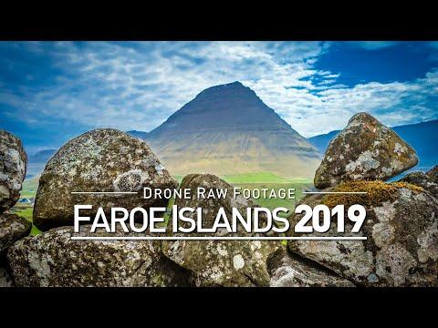 【4K】Drone RAW Footage   FAROE ISLANDS 2019 ..:: Torshavn :: Vager :: Vidareidi   UltraHD Stock Video