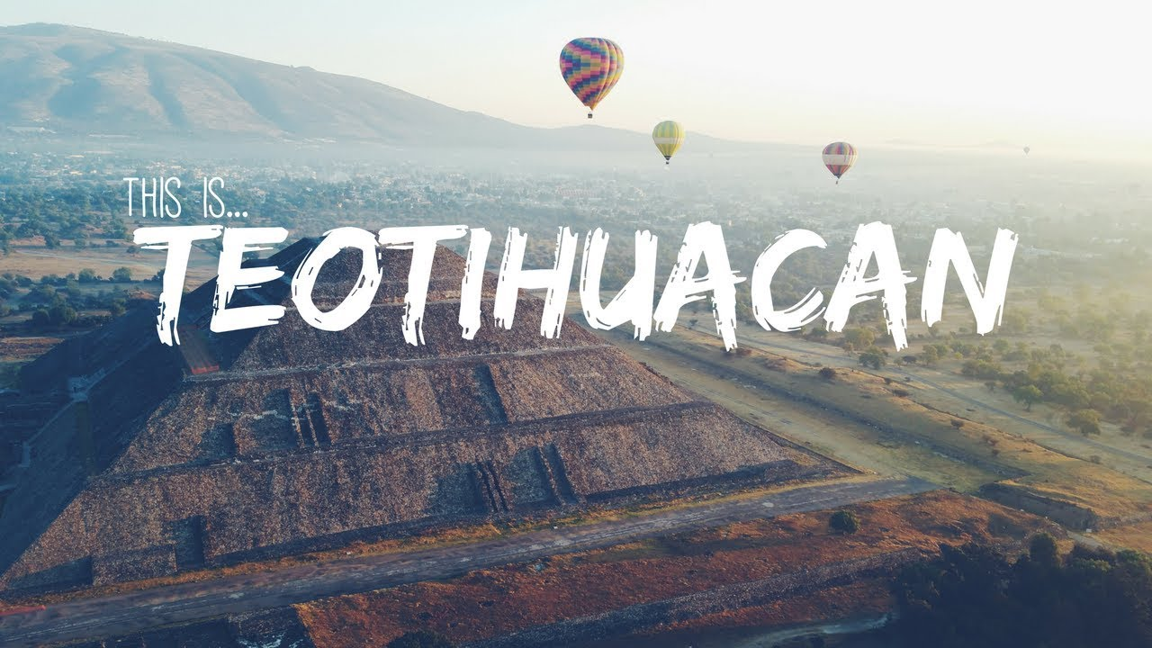 SPECTACULAR Views Over TEOTIHUACAN MEXICO! Hot Air Balloon