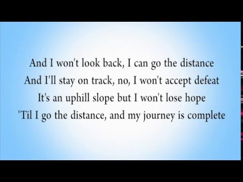 Go The Distance - Shawn Hook & KHS cover [lyrics]