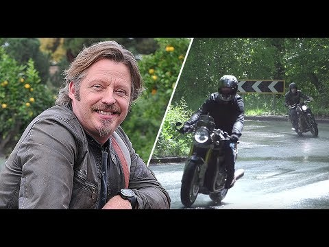 Battle of the Bonnies: Triumph Thruxton R vs Bobber, with Charley Boorman