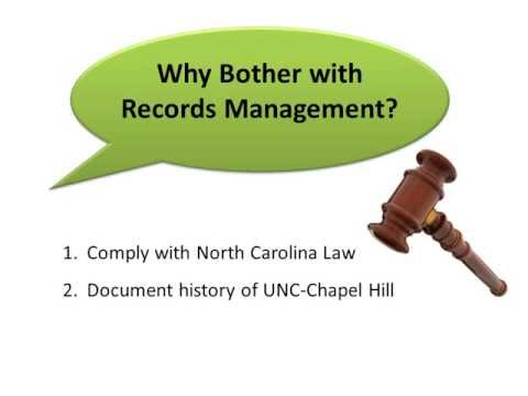 Introduction to Records Management Module - UNC Chapel Hill