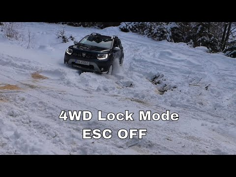 Test Duster Offroad 2WD Vs 4WD In Snow 2020