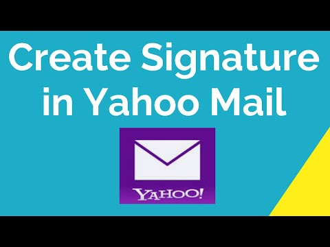 How to create signature in yahoo mail 2020