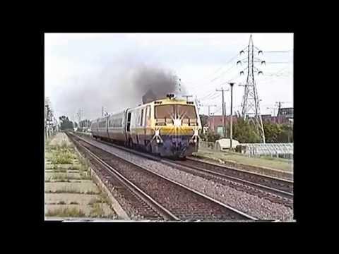 Evening Parade of VIA AMT CP & CN Trains Dorval QC 17 June 1999