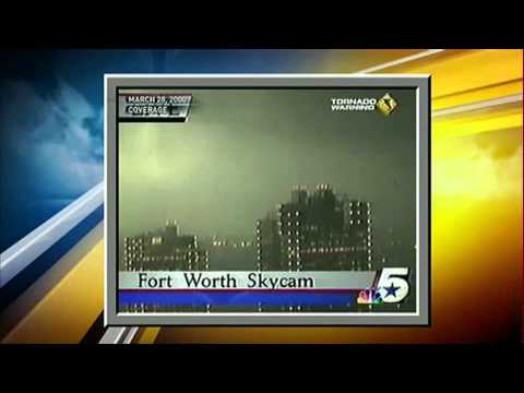 2000 Fort Worth Tornado - KXAS - LIVE ON AIR