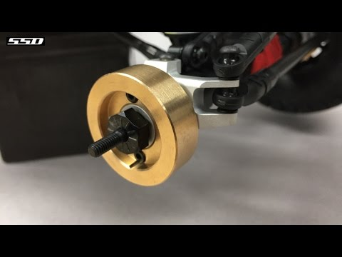 SSD-RC Pro aluminum C-hub, Knuckle and Knuckle weight install for SCX-10 II