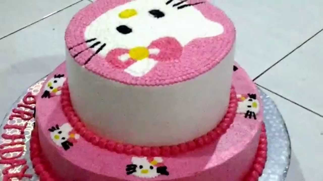 Hello Kitty Two Tier Cake Youtube