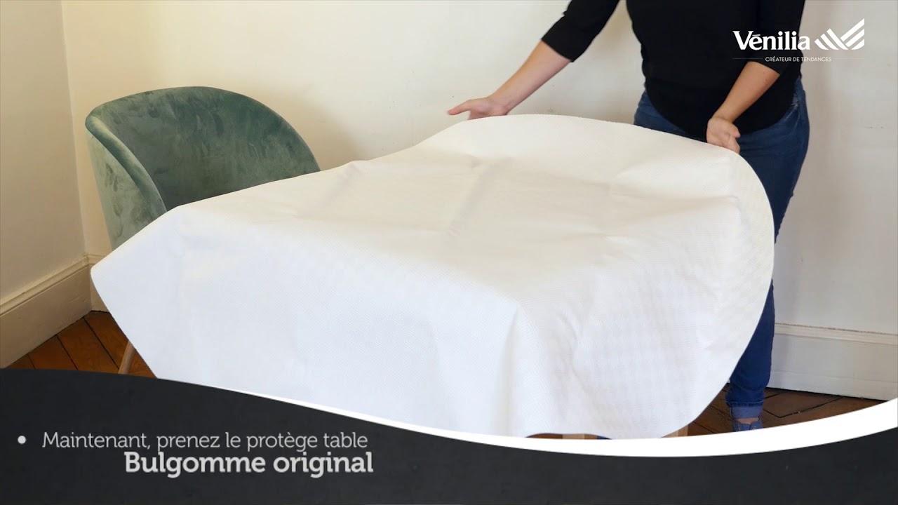 d monstration du prot ge table bulgomme original anti. Black Bedroom Furniture Sets. Home Design Ideas