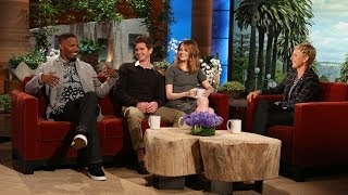Emma Stone and Jamie Foxx on