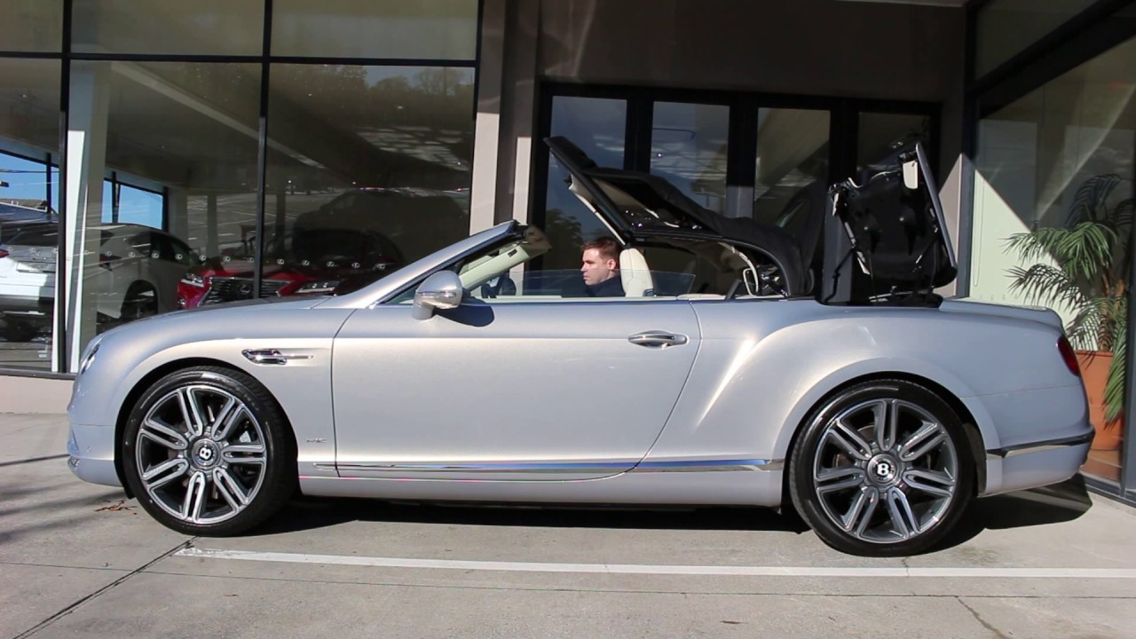 Bentley Continental Gt Convertible 2016 Roof