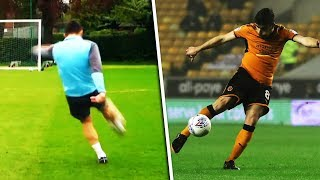 Ruben Neves recreates his legendary volley with Jimmy Bullard!