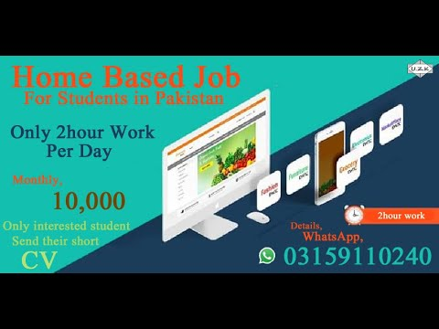 Home Based Job For Students In Pakistan Online Job For Students Youtube