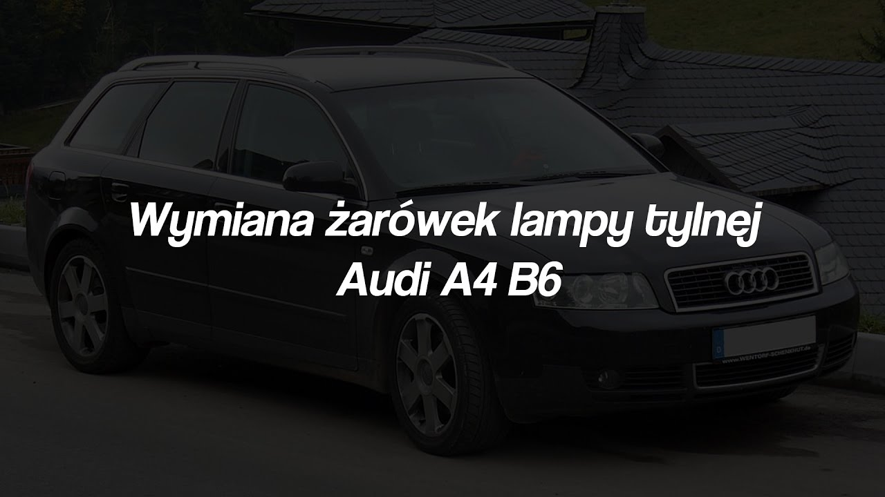 W superbly Wymiana żarówek lampy tylnej Audi A4 B6 Avant - YouTube HM37