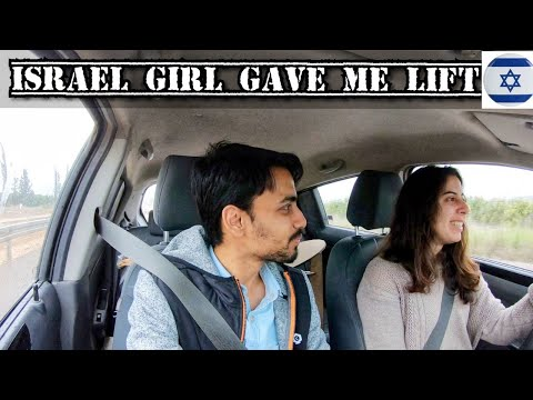 INDIAN 🇮🇳HITCHHIKING WITH ISRAELI GIRL IN NORTH ISRAEL 🇮🇱