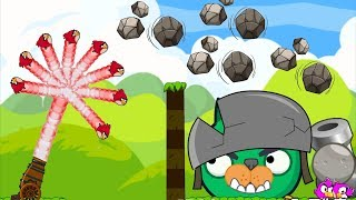 Angry Birds Collection Birds 1 - MAD CANNON SHOOTING 100 BIRDS! FORCING STONE TO PIGGIES!