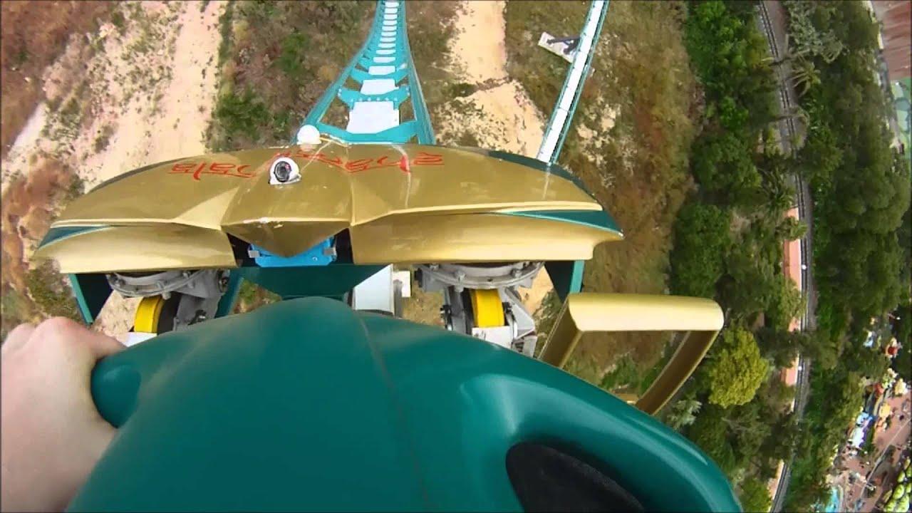 Geometría marca Franco  Shambala (Port Aventura) en primera fila (GoPro HD) - YouTube