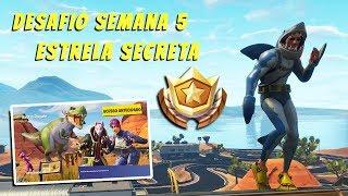 Star Secret WEEK 5 loading screen-Season 5 Atemporal-Fortnite Carlos Gameplay PS4